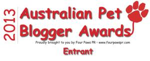 2013 Australian Pet Blogger Award Entrant Logo